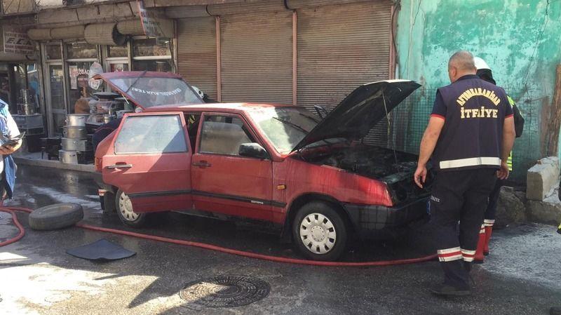 Afyonkarahisar'da seyir halindeki LPG'li araç bir anda alev aldı