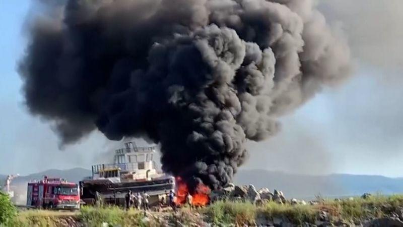 Zonguldak'ta tersane yangını