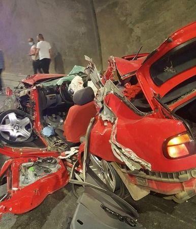 Trabzon'da tünel içinde kaza