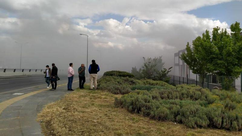 Ankara'da depoda korkutan yangın
