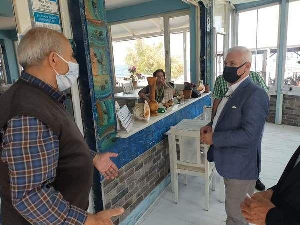 Mustafa Bozbey'den Tirilye esnafına ziyaret