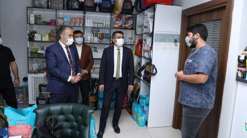 Alinur Aktaş'tan esnafa ziyaret