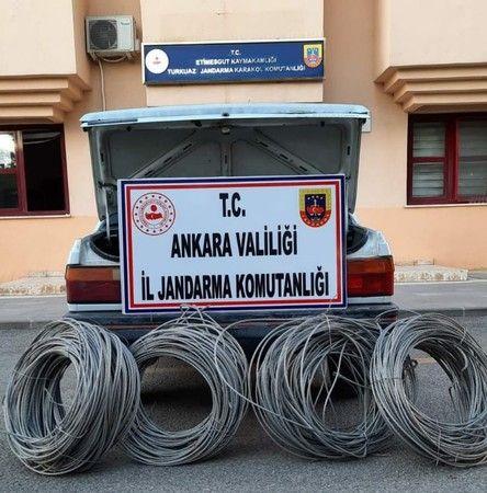 Ankara'da kablo hırsızına suçüstü