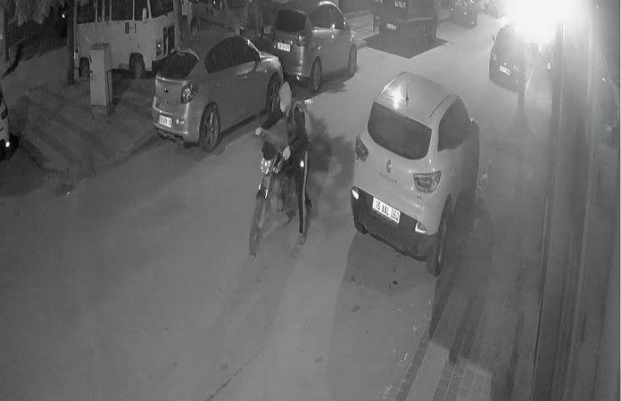 Bursa'nın İnegöl ilçesinde motosiklet hırsızlık girişimi