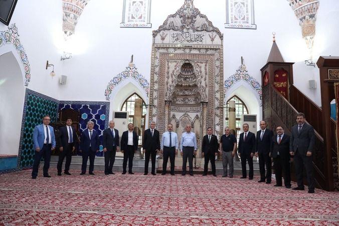 Misafir başkanlar Bursa Muradiye Külliyesi'ne hayran kaldı