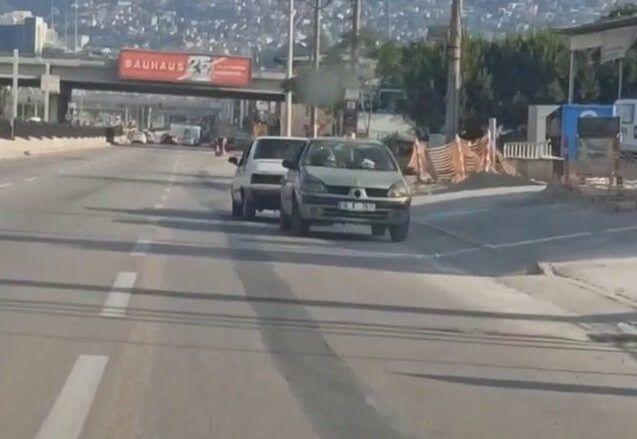Bursa'da bozulan otomobil İstanbul yolunda ters çekildi