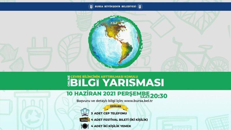 Bursa'da çevre konulu bilgi yarışmasını kazananlar