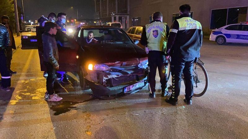 Bursa İnegöl'de kaza 3 yaralı!