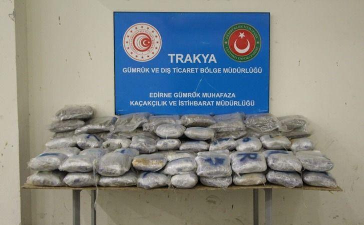 Edirne'de uyuşturucu operasyonu:116 kilo uyuşturucu