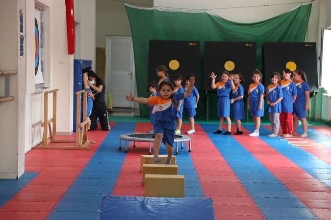 İnegöllü minikler için yaz spor okulları başladı
