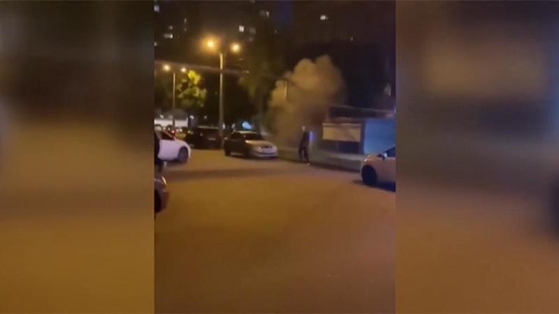 Kavgada yumruk yiyen adam el bombası attı