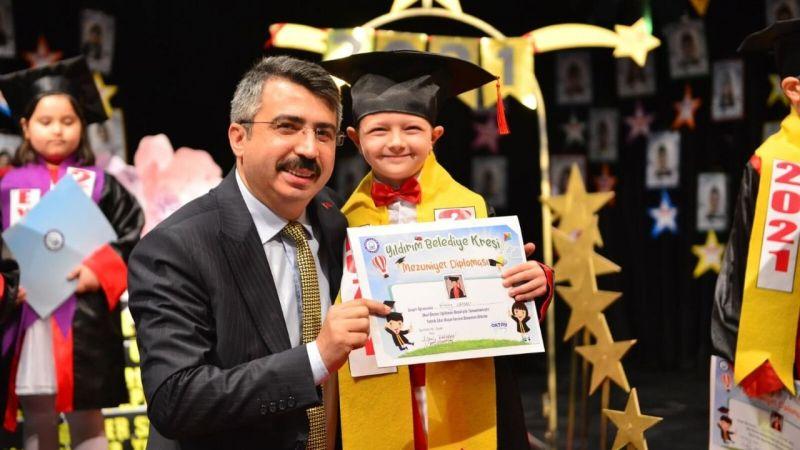 Yıldırımlı minikleri mezuniyet heyecanı sardı