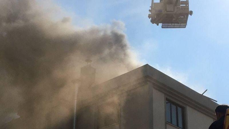 Bursa İnegöl'de öğrenci yurdunda yangın