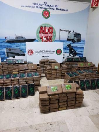Mersin Limanı'nda 463 kilogram kokain