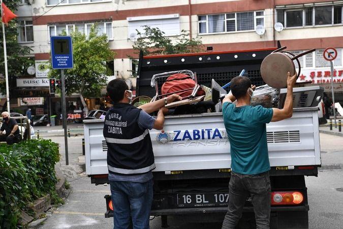 Osmangazi Belediyesi kaldırımları işgalden kurtardı