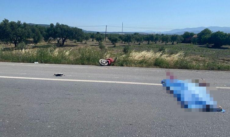 Manisa'da motosiklet kazasında sürücü hayatını kaybetti