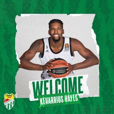 Frutti Extra Bursaspor, ABD'li Kevarrius Hayes'i transfer etti