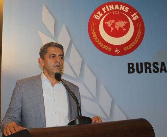 Öz Finans-İş Sendikası Bursa Şube Başkanı Mehmet Kop