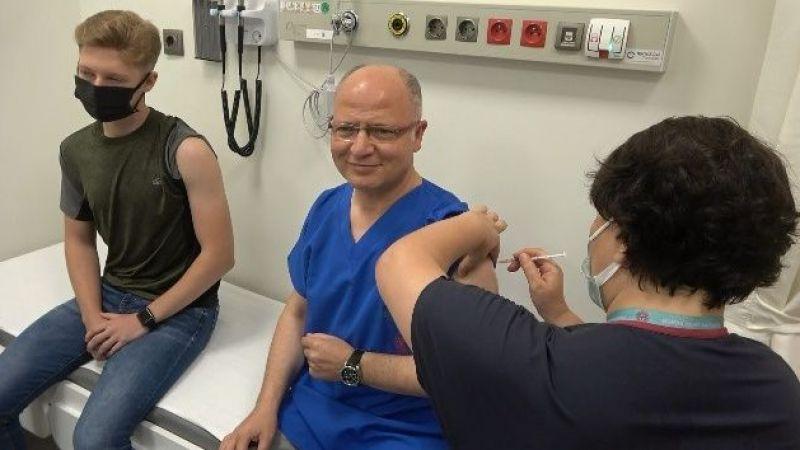 Davut Gürkan ikinci doz aşısını oldu