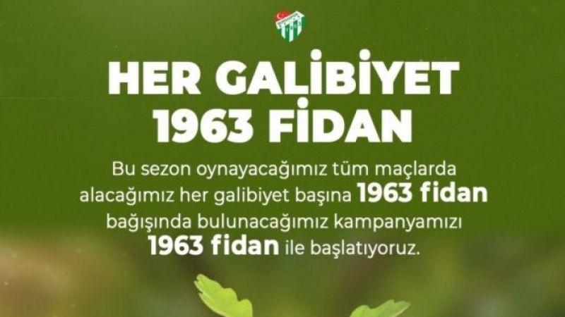 Bursaspor'dan örnek 'fidan' projesi