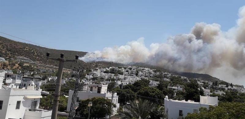 Bodrum'daki yangında korkutan patlama
