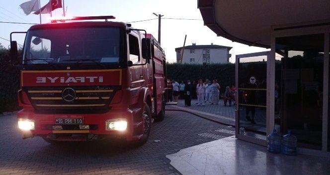 Bursa'da rehabilitasyon merkezinde yangın paniği