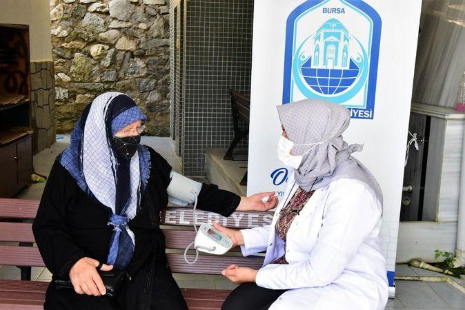 Yıldırım'da kadınlara sağlık taraması yapıldı