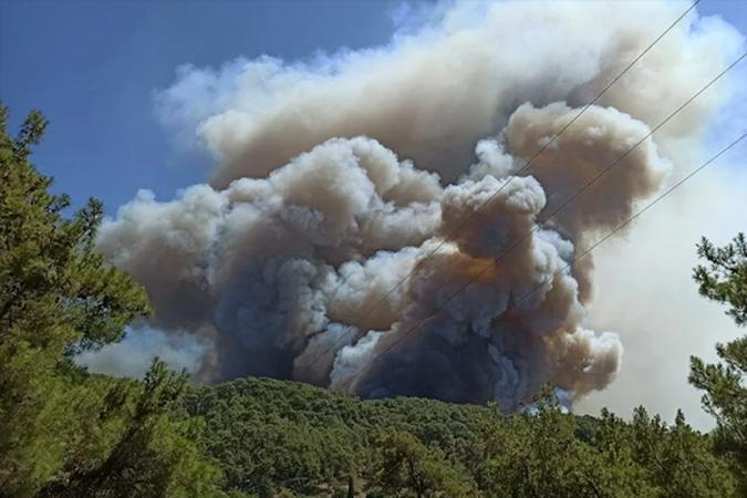 Raporda, rüzgar şiddetinin yüksek olmasının, yangınların devam ettiği yörelerde alevlerin yayılma hızını artırdığı ve yangına doğrudan müdahaleyi güç