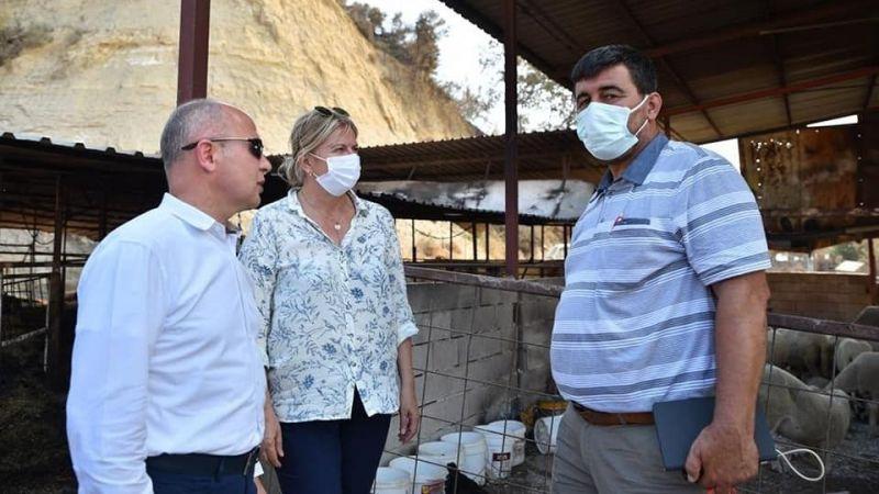 Davut Gürkan'dan âfet bölgesine destek ziyareti