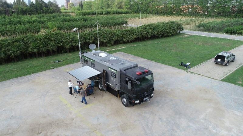 Bursa'da 'mobil yangın denetim aracı' koordine ediliyor