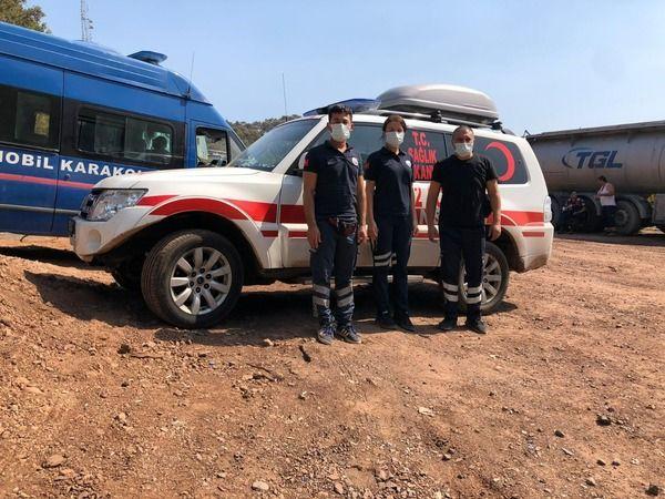 Bursa İl Sağlık Müdürlüğü yangın bölgesine destek gönderdi