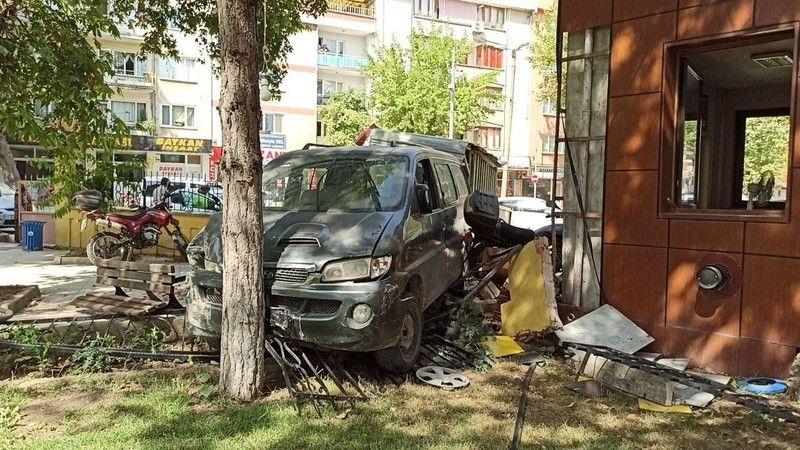 Bursa'da cami avlusunda korku dolu anlar