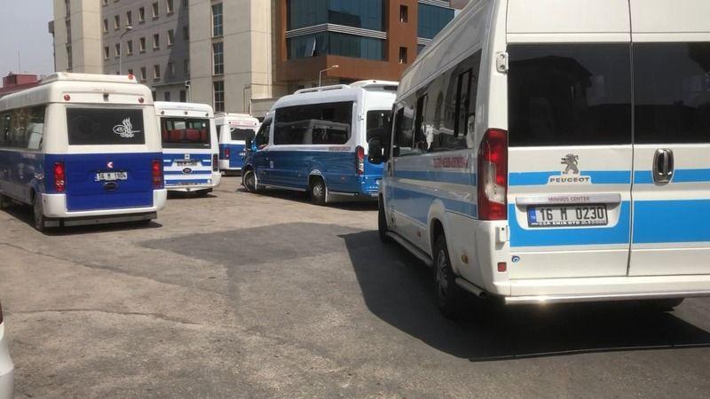 Bursa'da minibüs şoförleri kavga etti