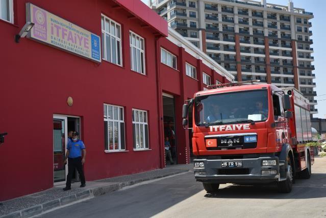 Bursa Büyükşehir itfaiye ekipleri yangın bölgesine gitti