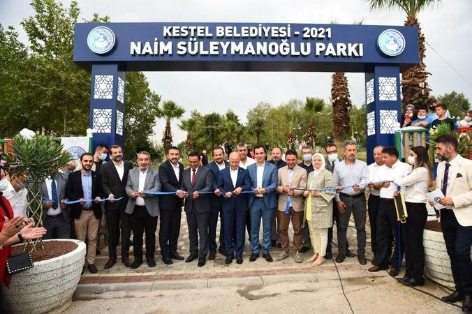 Kestel'de Naim Süleymanoğlu Parkı açıldı