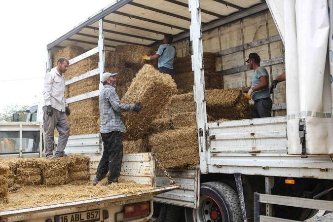 Nilüferli çiftçilerden Manavgat'a destek