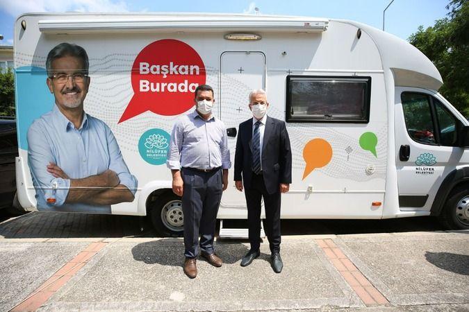 Nilüfer'de 'Başkan Burada' karavanı tekrar yola çıktı