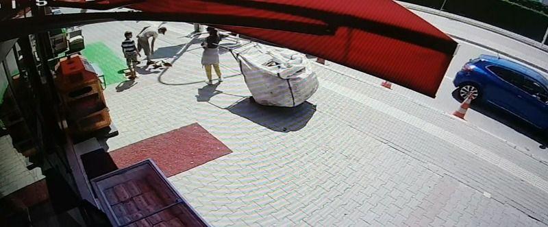 Bursa'da saniyeler içinde hırsızlık