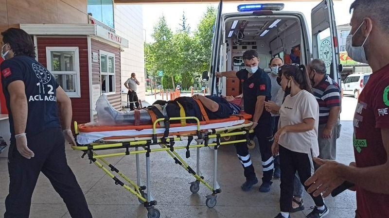 Bursa'da kadın işçinin ayağı makineye sıkıştı