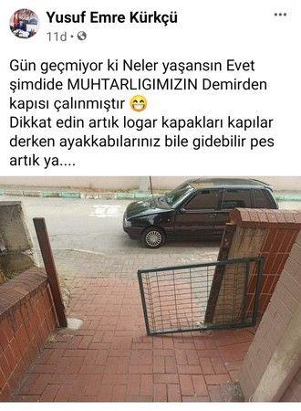 Bursa'da muhtarlığın kapısı çalındı