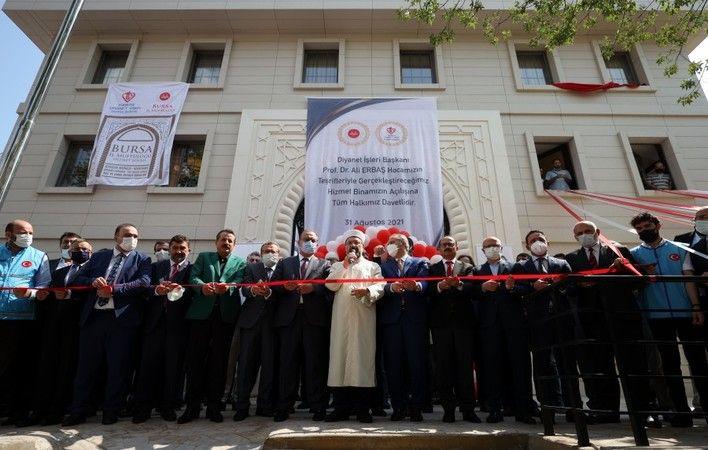 Diyanet İşleri Başkanı Prof. Dr. Ali Erbaş, Bursa İl Müftülüğü hizmet binasının açılış törenine katıldı.