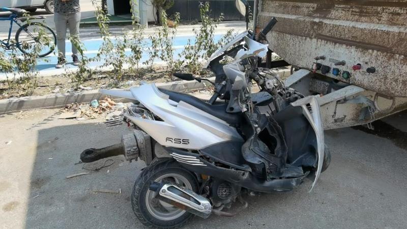 Bursa'da motosiklet kazası yaşandı