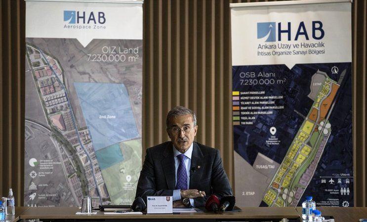 Cumhurbaşkanlığı Savunma Sanayii Başkanı İsmail Demir, Ankara Uzay ve Havacılık İhtisas Organize Sanayi Bölgesinin (HAB) yeni Müteşebbis Heyeti toplan
