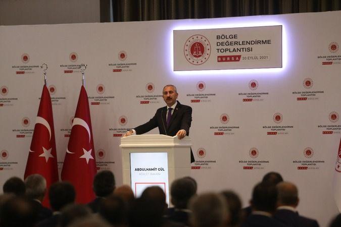 Bakan Gül Bursa'da yargı reformuna ilişkin açıklamalarda bulundu