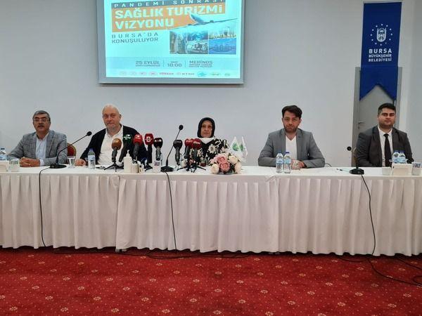Bursa Büyükşehir Belediyesi ve Bursa Sağlık Turizmi Derneği (BUSAT) işbirliğinde 'Pandemi sonrası Türkiye Sağlık Turizmi Vizyonu Paneli'nin tanıtım to
