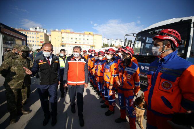 Balıkesir'de AFAD koordinesinde deprem tatbikatı gerçekleştirildi.