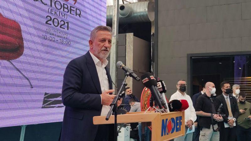 """Türkiye'nin önemli mobilya üretim merkezlerinden Bursa'nın İnegöl ilçesinde 45'incisi düzenlenen """"Uluslararası İnegöl Mobilya Fuarı"""" (MODEF EXPO 2021)"""