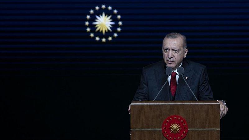 Cumhurbaşkanı Recep Tayyip Erdoğan, Beştepe Millet Kongre ve Kültür Merkezi'nde Mesleki Eğitimde 1000 Okul Projesi ve 50 Ar-Ge Merkezi'nin Açılış Töre