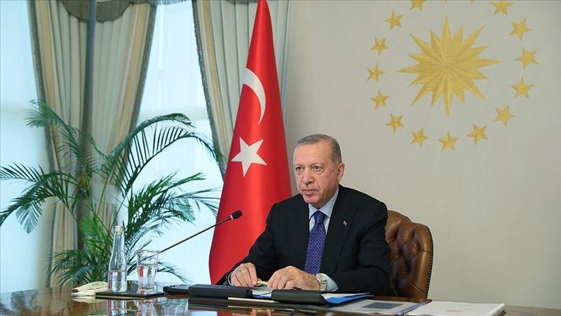 """Cumhurbaşkanı Recep Tayyip Erdoğan, Afganistan konulu G20 Liderler Zirvesi'nde, """"G20 bünyesinde bir çalışma grubu oluşturulmasını öneriyorum. Türkiye"""