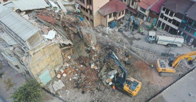 Bursa'daki Hanlar Bölgesi'nde çalışmalar devam ediyor